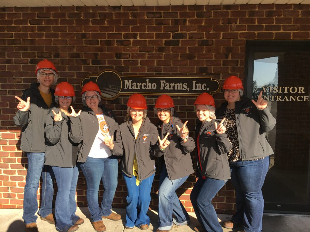 I learned more about the meat processing industry. Before a contest, we toured a veal plant in PA.